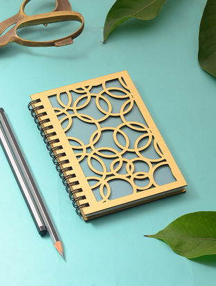 Turquoise Notebook with Cutwork Cover