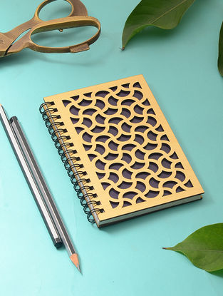 Navy Blue Notebook with Cutwork Cover