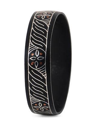 Black Silver and Copper Bangle with Bidri Work (Bangle Size -2/8)