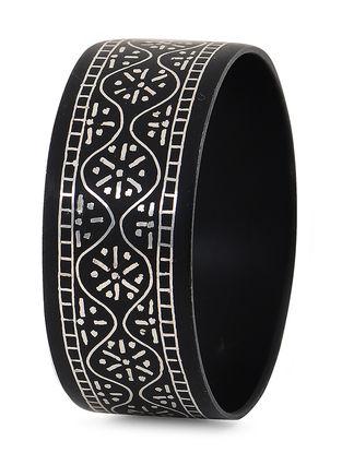 Black Silver Bangle with Bidri Work (Bangle Size -2/8)