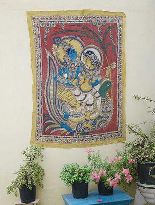 Limited Edition Radha Krishna Kalamkari Wall Art by Bina Ramani
