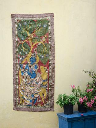 Limited Edition Krishna embellished Kalamkari Wall Hanging by Bina Ramani