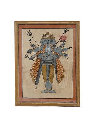 Limited Edition Vintage Kalpasutra Jain Ancient Illustration Framed Art Work-13.2in x 10.2in x 0.5in