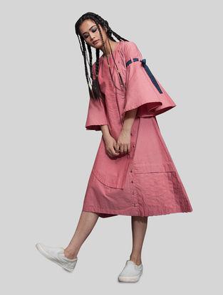 Pink Button Down Cotton Dress