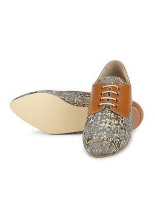 Tan Handcrafted Printed Brogues