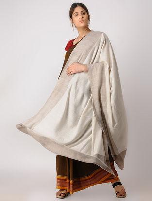 Ivory-Taupe Pashmina Shawl