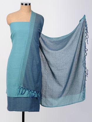 Blue Cotton Suit Set (set of 3)