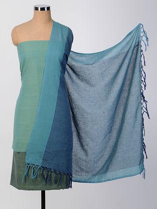 Green-Blue Cotton Suit Set (set of 3)
