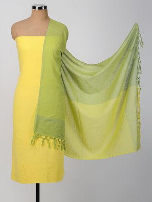 Yellow-Green Cotton Suit Set (set of 3)