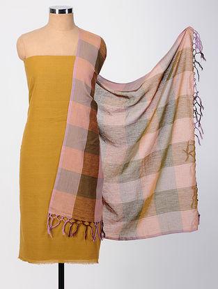 Mustard-Pink Cotton Suit Set (set of 2)
