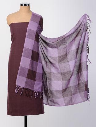 Maroon-Purple Cotton Suit Set (set of 2)