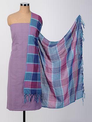 Purple-Blue Cotton Suit Set (set of 2)