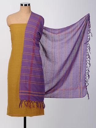 Mustard-Purple Cotton Suit Set (set of 2)