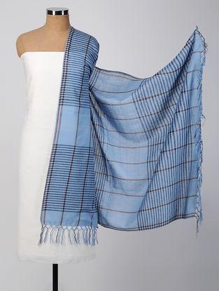 Ivory-Blue Cotton Suit Set (set of 2)