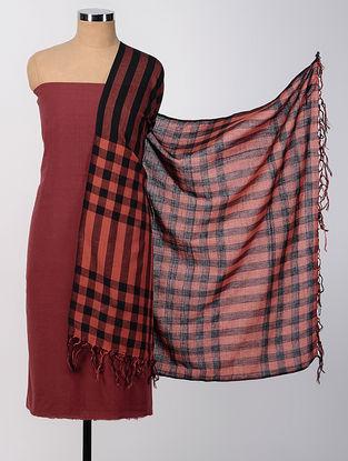 Red-Black Cotton Suit Set (set of 2)