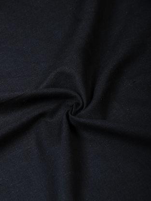 Black Handloom Cotton Fabric