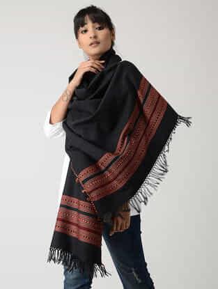 Black-Maroon Woolen Stole