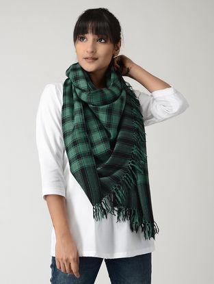 Green-Black Woolen Stole