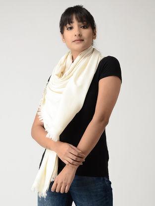 Ivory Angora Wool-Silk Stole