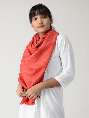 Red Linen Woolen Stole