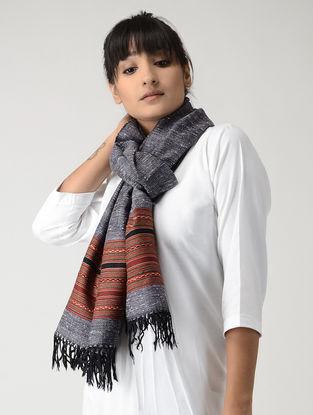 Grey-Red Angora Woolen Stole