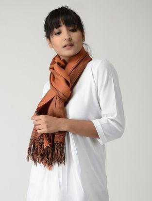 Orange-Black Woolen Stole