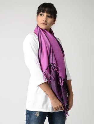 Purple-Black Woolen Stole