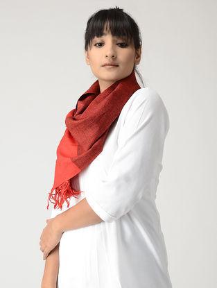 Red-Black Woolen Muffler