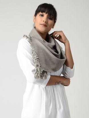Ivory-Grey Woolen Muffler