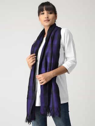 Purple-Black Woolen Muffler