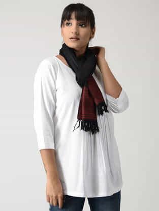 Black-Maroon Woolen Muffler