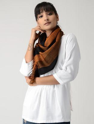 Orange-Black Woolen Muffler