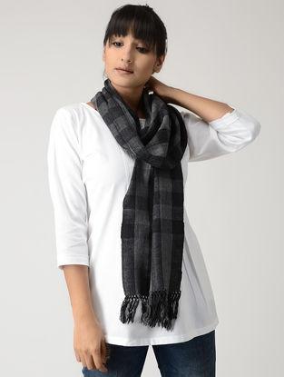 Grey-Black Woolen Muffler