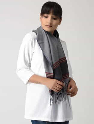 Grey-Red Woolen Muffler