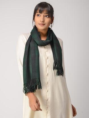 Green-Black Woolen Muffler