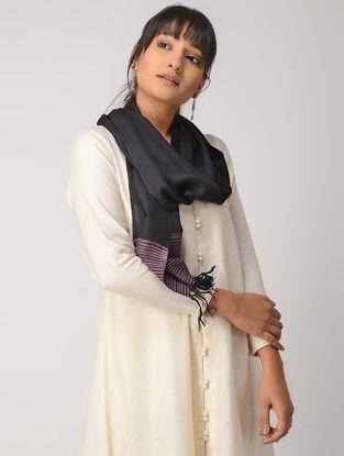 Black-Purple Woolen Muffler