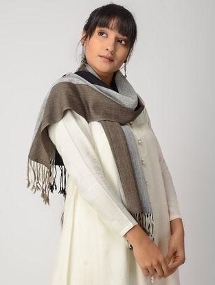Brown-Grey Woolen Muffler