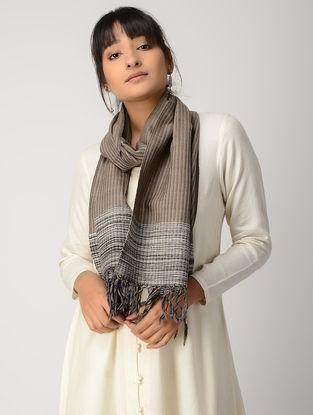Beige-Grey Woolen Muffler