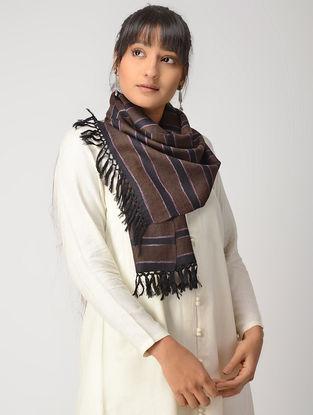 Brown-Black Woolen Muffler