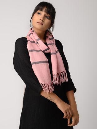 Pink-Black Woolen Muffler
