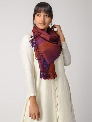 Red-Purple Woolen Muffler
