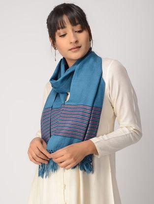 Blue-Pink Woolen Muffler