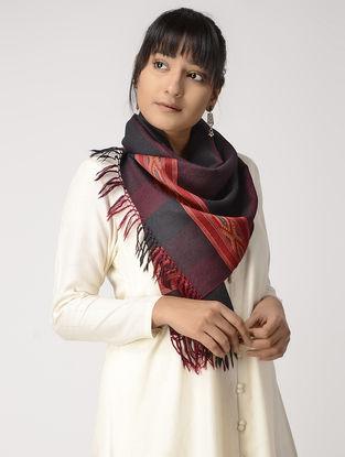 Black-Red Woolen Muffler