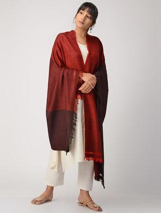 Red-Maroon Woolen Shawl