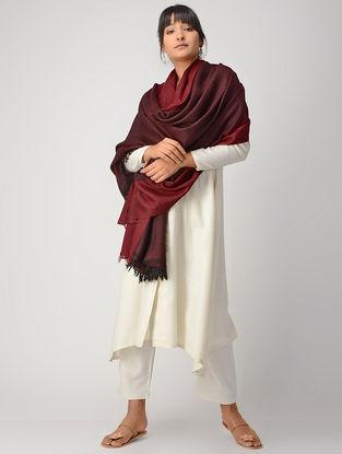 Maroon-Red Woolen Shawl