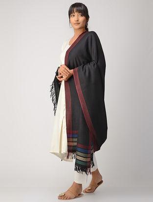 Black-Pink Woolen Shawl