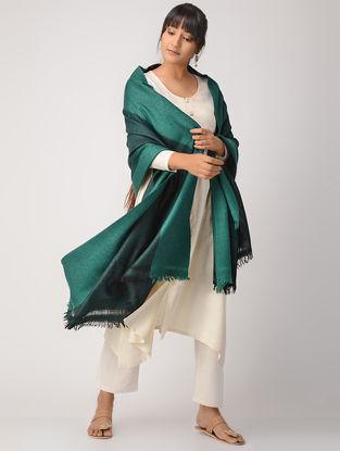 Green-Black Woolen Shawl