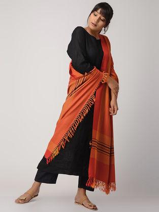 Yellow-Pink Woolen Shawl