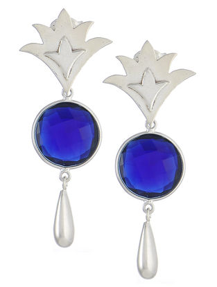 Durba Blue Sapphire Hydro Silver Earrings