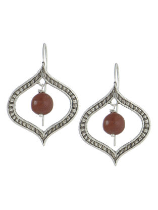 Jasper Drop Silver Earrings